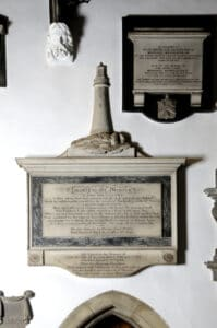 The monument to John Smeaton at St Mary's Church.